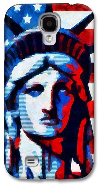 Statue Of Liberty Mixed Media Galaxy S4 Cases - Liberty 2 Galaxy S4 Case by Angelina Vick