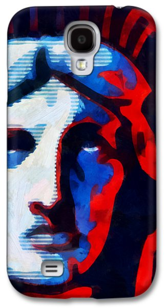 Statue Of Liberty Mixed Media Galaxy S4 Cases - Liberty 3 Galaxy S4 Case by Angelina Vick