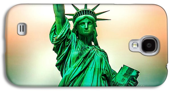 Statue Galaxy S4 Cases - Liberty And Beyond Galaxy S4 Case by Az Jackson
