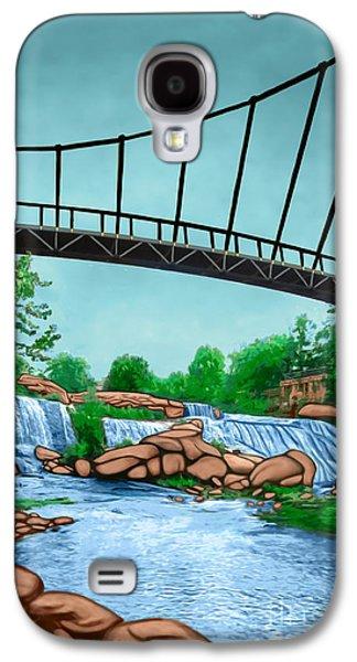 Angel Mermaids Ocean Galaxy S4 Cases - Liberty Bridge Greenville Sc Galaxy S4 Case by Rachelle Petersen