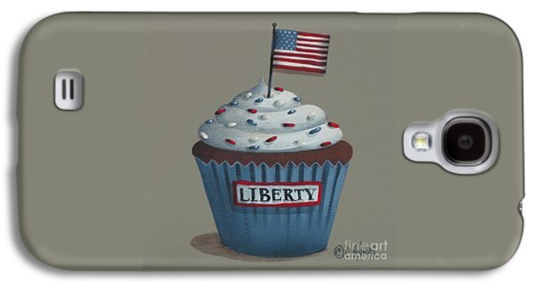 Catherine White Paintings Galaxy S4 Cases - Liberty Cupcake Galaxy S4 Case by Catherine Holman