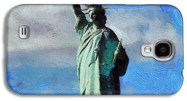 Statue Of Liberty Mixed Media Galaxy S4 Cases - Liberty Galaxy S4 Case by Dan Sproul