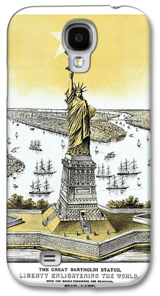Statue Of Liberty Mixed Media Galaxy S4 Cases - Liberty Enlightening The World  Galaxy S4 Case by War Is Hell Store