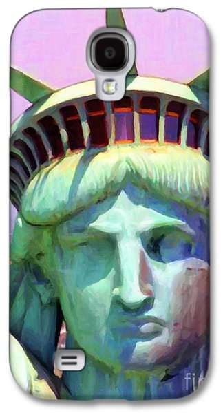 Statue Portrait Galaxy S4 Cases - Liberty Head Painterly 20130618 Galaxy S4 Case by Wingsdomain Art and Photography