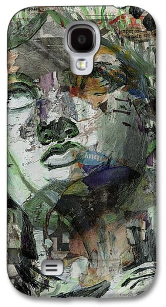 Statue Portrait Mixed Media Galaxy S4 Cases - Liberty Galaxy S4 Case by Lauren Caldwell