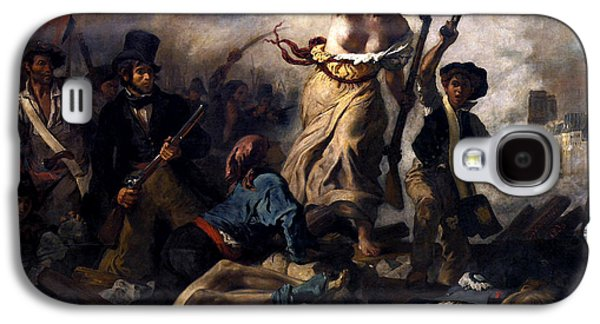 Patriotic Paintings Galaxy S4 Cases - Liberty Leading The People During The French Revolution Galaxy S4 Case by War Is Hell Store