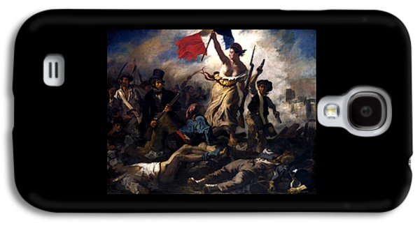 Liberty Paintings Galaxy S4 Cases - Liberty Leading The People During The French Revolution Galaxy S4 Case by War Is Hell Store