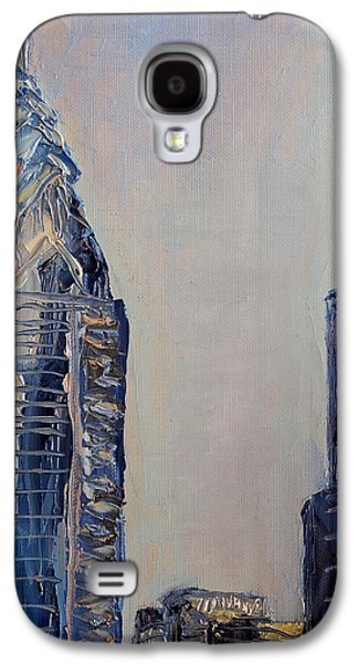 Phillies Paintings Galaxy S4 Cases - Liberty Place Galaxy S4 Case by Joseph Levine