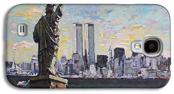 City Scape Galaxy S4 Cases - Liberty Galaxy S4 Case by Ylli Haruni