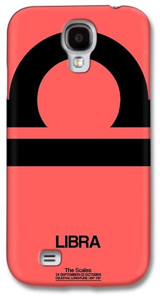 Virgo Galaxy S4 Cases - Libra Zodiac Sign Black Galaxy S4 Case by Naxart Studio