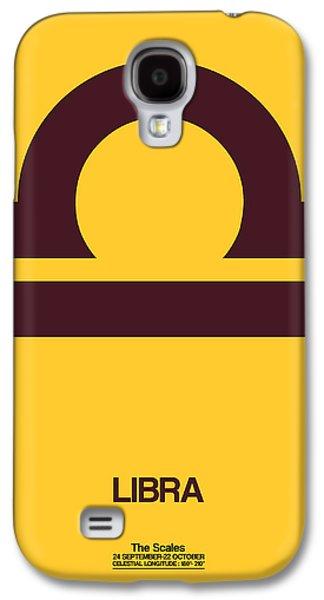 Virgo Galaxy S4 Cases - Libra Zodiac Sign Brown Galaxy S4 Case by Naxart Studio