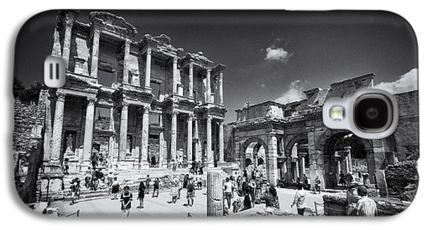 Ancient Galaxy S4 Cases - Library of Celsus - Ephesus Galaxy S4 Case by Stephen Stookey