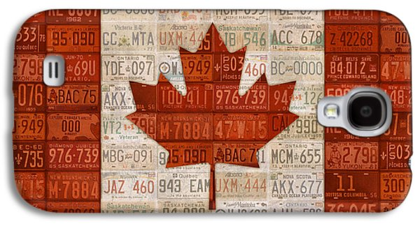 Number Galaxy S4 Cases - License Plate Art Flag of Canada Galaxy S4 Case by Design Turnpike