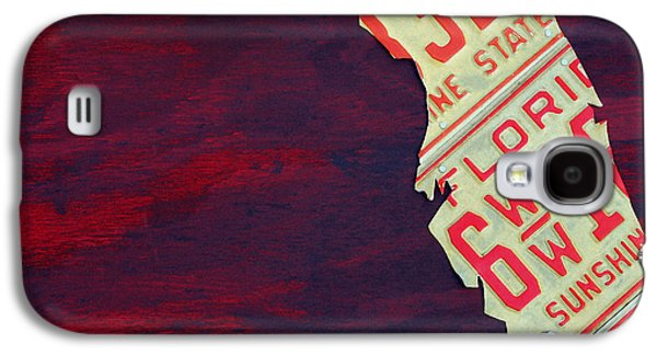 License Plate Map Of Florida By Design Turnpike Galaxy S4 Case by Design Turnpike