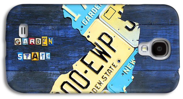 New Jersey Galaxy S4 Cases - License Plate Map of New Jersey v2 by Design Turnpike Galaxy S4 Case by Design Turnpike