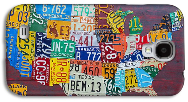Michigan Galaxy S4 Cases - License Plate Map of The United States Galaxy S4 Case by Design Turnpike