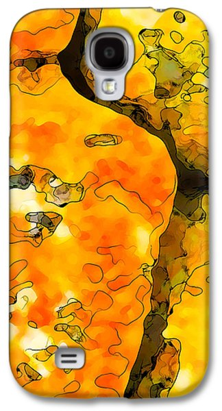Nature Abstract Galaxy S4 Cases - Lichen Abstract 1 Galaxy S4 Case by Bill Caldwell -        ABeautifulSky Photography