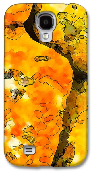 Abstract Digital Digital Galaxy S4 Cases - Lichen Abstract 1 Galaxy S4 Case by Bill Caldwell -        ABeautifulSky Photography