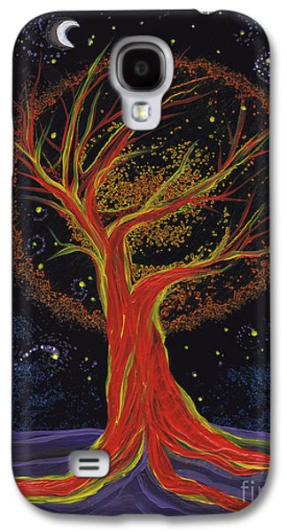 Mystical Landscape Mixed Media Galaxy S4 Cases - Life Blood Tree by jrr Galaxy S4 Case by First Star Art