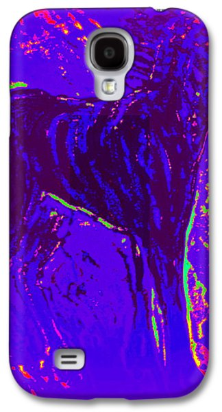 Psychiatric Paintings Galaxy S4 Cases - Life In Space Galaxy S4 Case by Hilde Widerberg