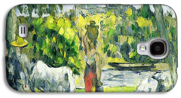 Water Jars Paintings Galaxy S4 Cases - Life in the Fields Galaxy S4 Case by Paul Cezanne