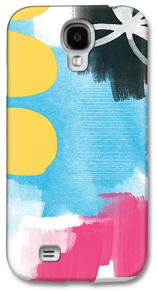 Original Mixed Media Galaxy S4 Cases - Life Is A Celebration-Abstract Art Galaxy S4 Case by Linda Woods