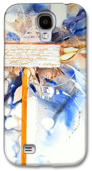 Curvilinear Paintings Galaxy S4 Cases - Life is the first gift  Galaxy S4 Case by Patricia Mayhew Hamm