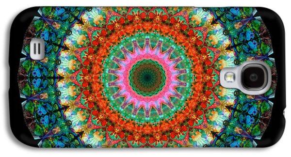 Kaleidoscope Galaxy S4 Cases - Life Joy - Mandala Art By Sharon Cummings Galaxy S4 Case by Sharon Cummings