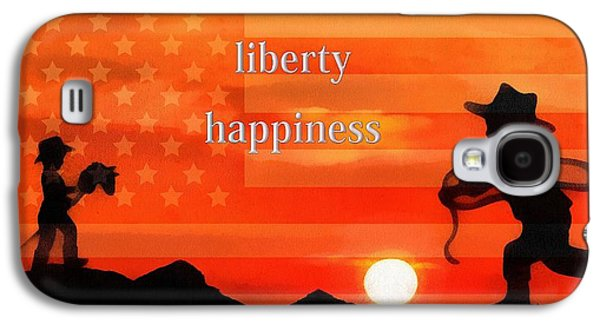 Government Mixed Media Galaxy S4 Cases - Life Liberty Happiness Galaxy S4 Case by Dan Sproul