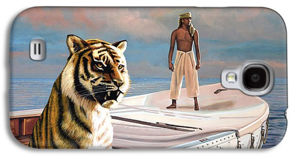 Globe Paintings Galaxy S4 Cases - Life Of Pi Galaxy S4 Case by Paul  Meijering