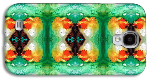 Life Patterns 1 - Abstract Art By Sharon Cummings Galaxy S4 Case by Sharon Cummings