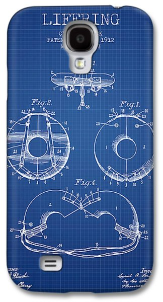 Saving Galaxy S4 Cases - Life Ring Patent from 1912 - Blueprint Galaxy S4 Case by Aged Pixel
