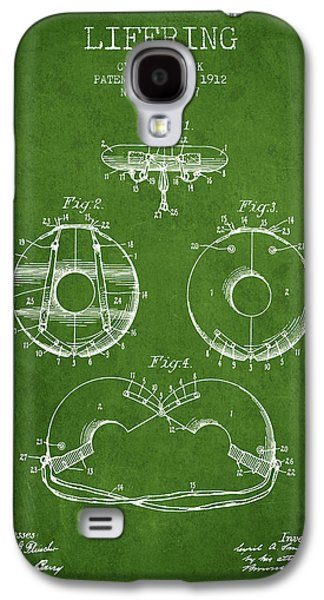 Saving Galaxy S4 Cases - Life Ring Patent from 1912 - Green Galaxy S4 Case by Aged Pixel