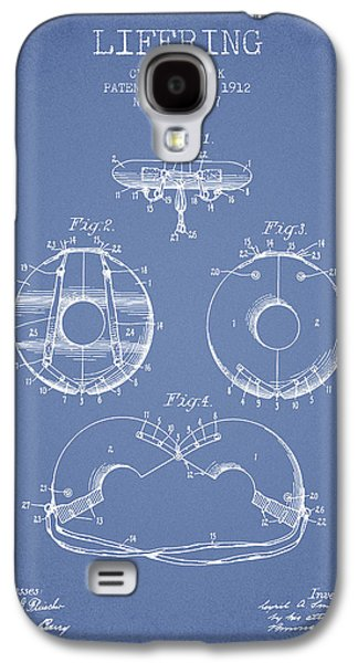 Saving Galaxy S4 Cases - Life Ring Patent from 1912 - Light Blue Galaxy S4 Case by Aged Pixel
