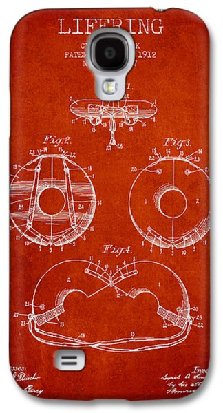 Saving Galaxy S4 Cases - Life Ring Patent from 1912 - Red Galaxy S4 Case by Aged Pixel