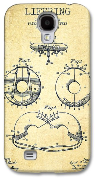 Saving Galaxy S4 Cases - Life Ring Patent from 1912 - Vintage Galaxy S4 Case by Aged Pixel