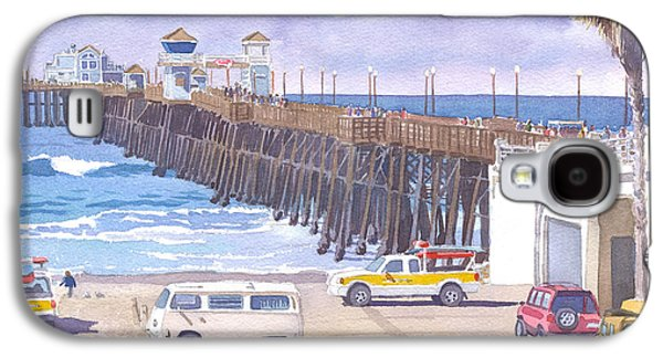 Lifeguard Trucks At Oceanside Pier Galaxy S4 Case by Mary Helmreich