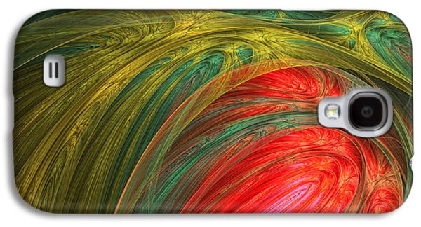 Olive Green Galaxy S4 Cases - LIfes Colors Galaxy S4 Case by Lourry Legarde