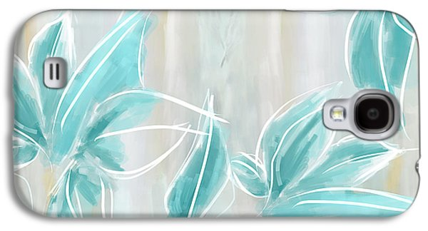 Blue Abstracts Galaxy S4 Cases - Light And Airy Galaxy S4 Case by Lourry Legarde