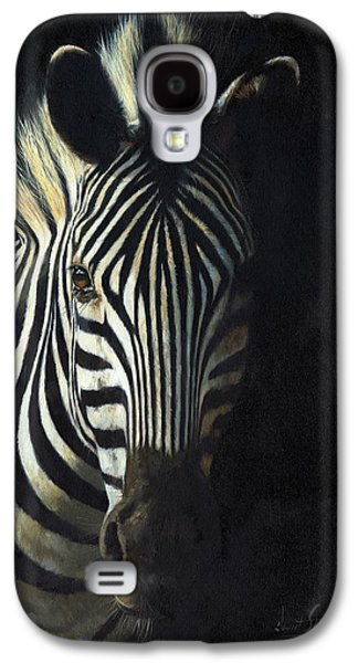 Stripes Paintings Galaxy S4 Cases - Light and Shade Galaxy S4 Case by David Stribbling