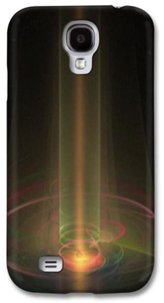 Manley Galaxy S4 Cases - Light Beam Fractal Galaxy S4 Case by Gina Lee Manley
