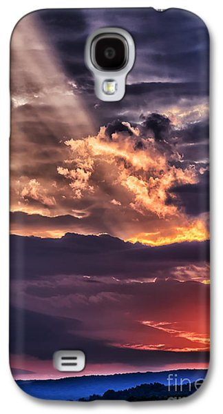 Colorful Cloud Formations Galaxy S4 Cases - Light Breaks through Clouds Sunrise Galaxy S4 Case by Thomas R Fletcher