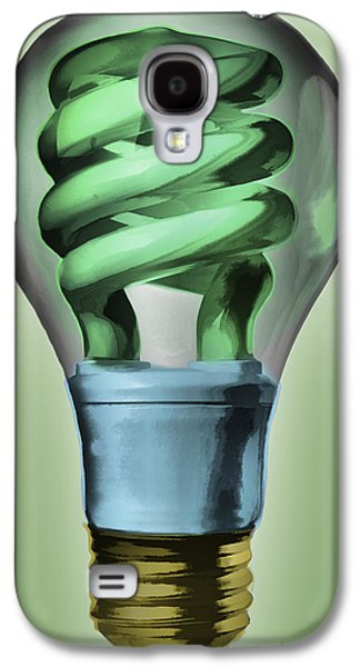 Thought Galaxy S4 Cases - Light Bulb Galaxy S4 Case by Bob Orsillo