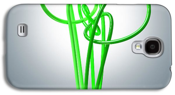 Light Bulb Green Energy Flourescent Galaxy S4 Case by Allan Swart