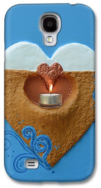 Light Reliefs Galaxy S4 Cases - Light Fire In The Heart Of Others Galaxy S4 Case by Catt Kyriacou