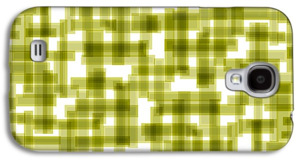 Modern Drawings Galaxy S4 Cases - Light Green Abstract Galaxy S4 Case by Frank Tschakert