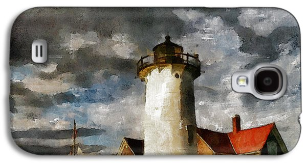Impressionism Mixed Media Galaxy S4 Cases - Light House In A Storm Galaxy S4 Case by Georgiana Romanovna