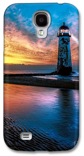 Shore Digital Art Galaxy S4 Cases - Light House Sunset Galaxy S4 Case by Adrian Evans