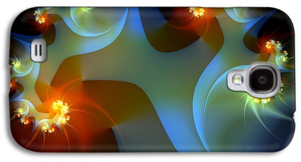 Fractal Art Galaxy S4 Cases - Light Object-Fractal Art Galaxy S4 Case by Karin Kuhlmann