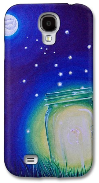 Water Jars Paintings Galaxy S4 Cases - Light of the Koi Moon Galaxy S4 Case by Deda Happel